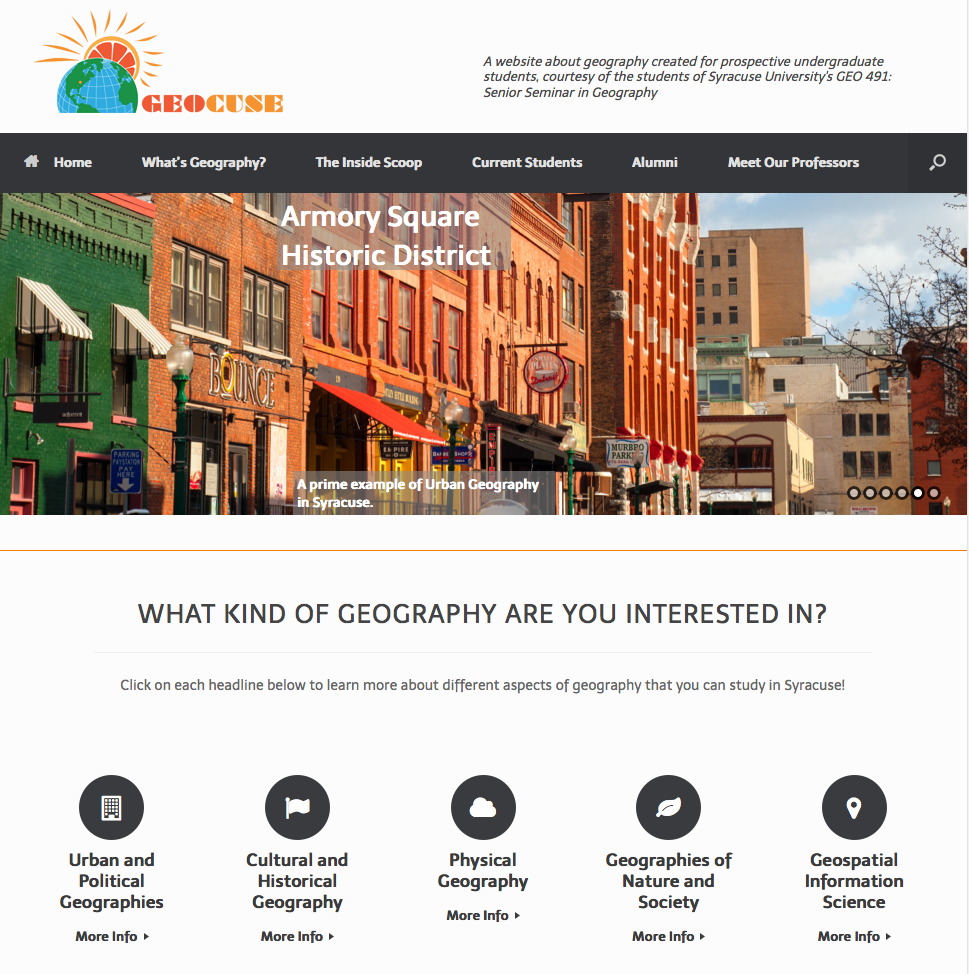 geocuse website